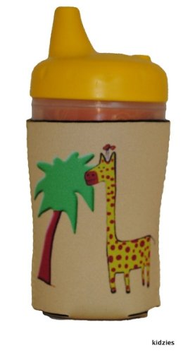 Kidzies Huggerz, Child'S Drink Sippy Cup Bottle Insulator, Safari Design front-666033