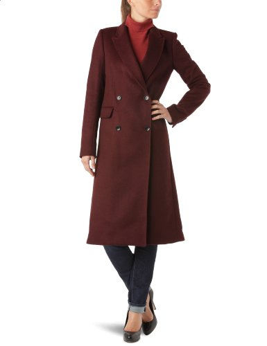 American Retro - Giacca di lana, manica lunga, donna, Nero (Noir (Bordeaux)), 40 - FR