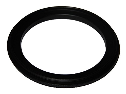 vhbw Step UP Filter-Adapter 49mm-58mm schwarz für Kamera Canon Casio Pentax Olympus Panasonic Sony Nikon Ricoh Sigma Tamron Samsung Agfa Minolta Kodak