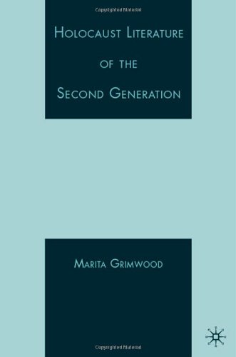 Holocaust Literature Of The Second Generation front-936093
