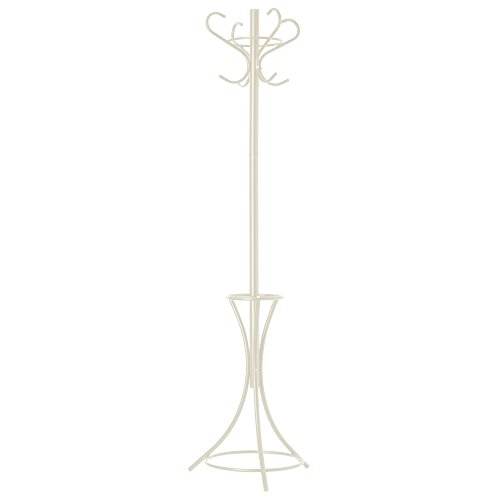 GrayBunny GB-6796 Metal Coat Rack, Hat Stand, Umbrella Holder, Hall Tree, Cream, For Home or Office