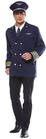 Amazon.com: Mens Pilot Costume: Adult Sized Costumes: Clothing