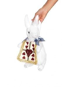 Leg Avenue Rabbit Purse, White/Gold, One Size