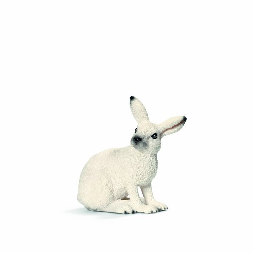 Schleich White Hare Toy Figure - 1