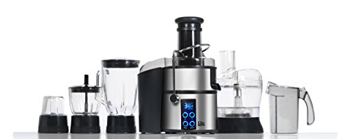 Maxi-Matic Ejx-5105 Elite Platinum 5-In-1 Digital Food Processor, Silver