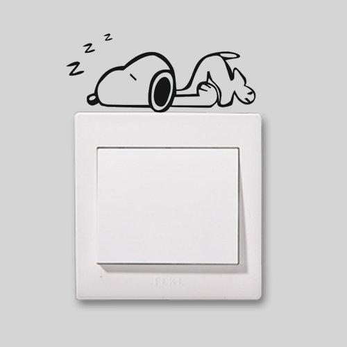 cute-snoopy-home-in-beautiful-a-nap-2fsocket-adesivo-interruttore-switch-2fsocket-vinile-decalcomani