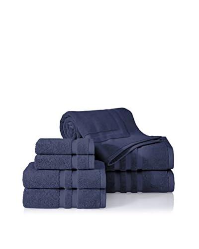 Chortex Irvington 7-Piece Towel Set, Navy