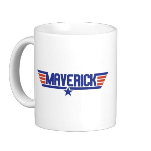 Maverick Coffee Mug White (15oz)
