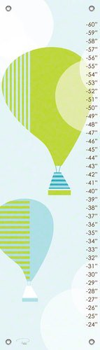 Oopsy Daisy Modern Balloons Growth Chart by Patchi Cancado, 12 by 42-Inch