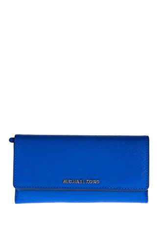 Michael KorsJet Set Travel Flat Trifold - Portafoglio Donna , Blu (Blau (electric Blue)), taglia unica