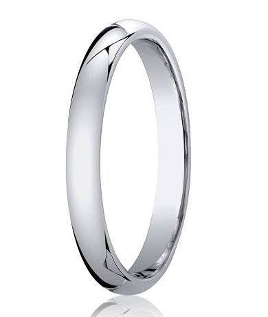 JKS Wedding Ring, PLATINUM 3mm Wide Heavy Weight Court Shape Band, 6.5g. Full UK Assay Office Hallmark. Presented in a JKS Hardwood Deluxe Ring Box. UK Made. Size P