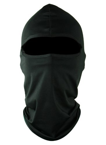 Eco Ride World フェイスマスク 保温対策 目出し帽 マスク サバゲー オートバイ スノボ ミリタリー ブラック サテン生地 fm_001