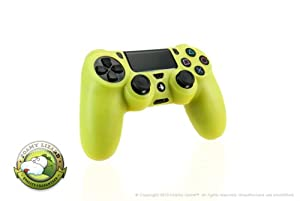 Playstation 4 Controller Skin by Foamy Lizard (TM) [MEMORIAL DAY SALE] ChameleonSkin (Individual) Premium Protective Anti-slip Silicone Grip Case Cover For Wireless PS4 Controller (Venom - Translucent Yellow)