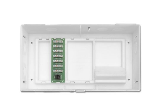 Leviton 47604-F6 Multi Dwelling Unit, Mdu Kit, Plus 1 X 6 Telephone Expansion Board, Abs Enclosure And Cover, White