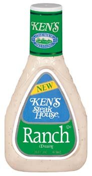 Ken's Steak House Ranch Salad Dressing 16 oz (Pack of 6)