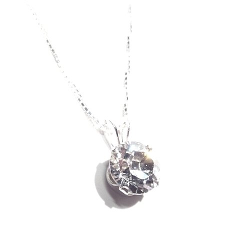 925 Sterling Silver Swarovski crystal pendant on fine silver chain with gift box. Beautiful jewellery for very special people.