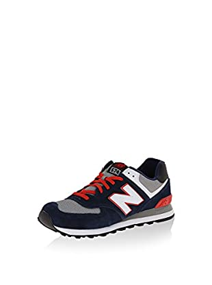 New Balance Zapatillas Wl574Bfl (Azul Oscuro / Rojo)