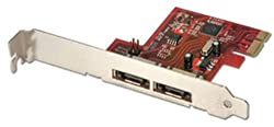 LINDY 2 Port eSATA 3 Card PCIe (51400)