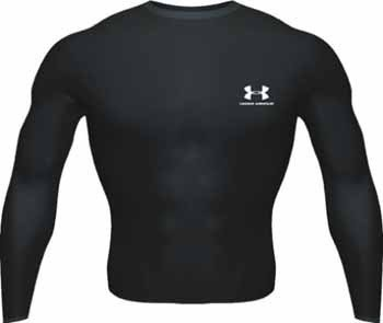 Under Armour Cold Gear LS Crew II Shirt Black - L
