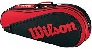 Wilson 2011 Triple Pack Tennis Racquet Equipment Bag - Red/Black