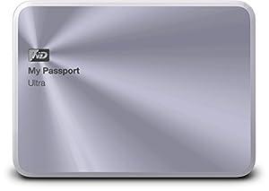 WD My Passport Ultra Metal Edition externe Festplatte 2TB (6,3 cm (2,5 Zoll), 5400rpm, 8MB Cache, SATA, USB 3.0) silber