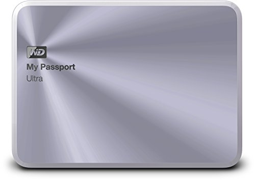Western Digital 2TB silber My Passport Ultra Metal Edition tragbare externe Festplatte