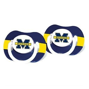 NCAA University Michigan 2 Pack Pacifiers - 1