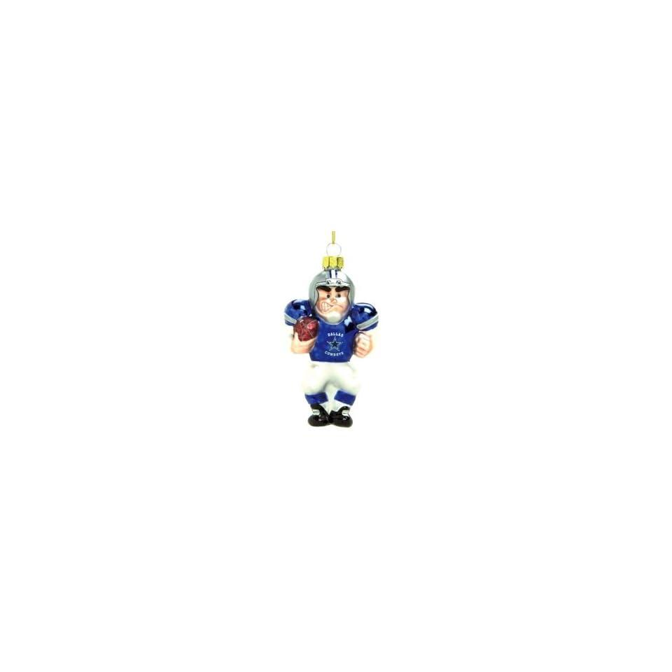 Dallas Cowboys NFL Glass Player Ornament (4 Caucasian)