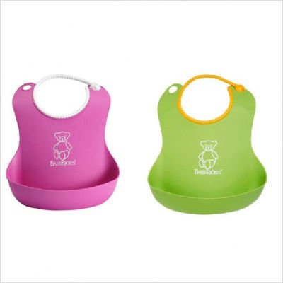 Purchase BABYBJORN 2 Count Soft Bib, Pink and Green
