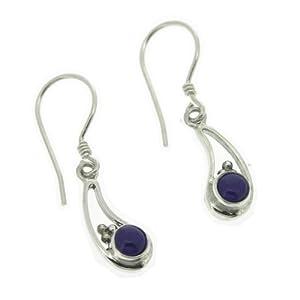 Nova Silver - nse12/ll - Boucles d'Oreilles Pendantes Femme - Argent 2 Gr - Lapis Lazuli