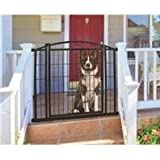 "Carlson Pet Products 460 Outdoor Walk-Thru Gate with Small Pet Door, 33.25 by 29-43"", Black"