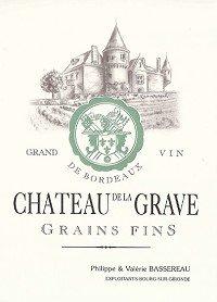Chateau De La Grave Cotes De Bourg Cuvee Grains Fins 2011 750Ml