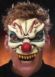 Evil Clown Chinless Costume Mask
