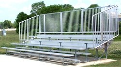 Bleacher W Risers Vertical Picket Railing - 8 Rows10 Rows 8 Rows112 Seats by Athletic Connection