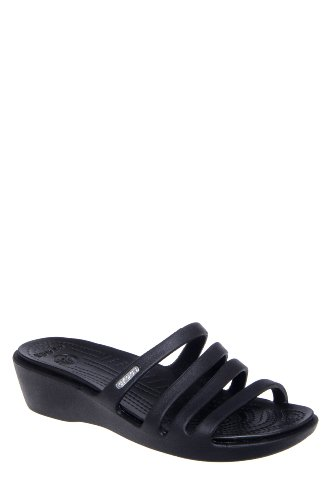 Crocs Rhonda Low Wedge Slide Sandal