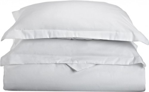 Clara Clark Premier 1800 Series 3-Piece Duvet Cover, California King, White