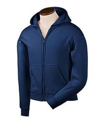 Gildan Heavy Blend Men\'s Hooded Sweatshirt (Navy) (L)