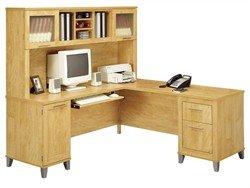 71 Inch L-Shaped Desk and Hutch - Bush Office Furniture - OFFPKG-36