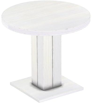 Brasil Rio uno mobili tavolo da pranzo, in legno di pino massiccio, oliata e cerata bianco 90cm/Altezza 78cm