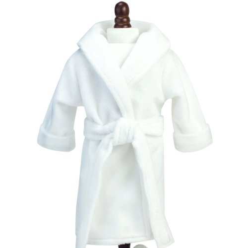 18 Inch Doll Robe in White with Belt by Sophia's, Fits 18 Inch American Girl Dolls & More! Soft White Robe/Belt