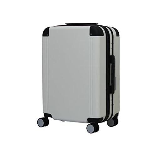 【実用新案取得済】【1年保証付】フレーム スーツケース 1157 小型 ホワイト