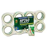 Duck Brand HP260 High Performance Packaging Tape, 1.88-Inch x 60 Yards, 3.1 Mil, Crystal Clear, 6-Pack + 2 Bonus Rolls (1067839)