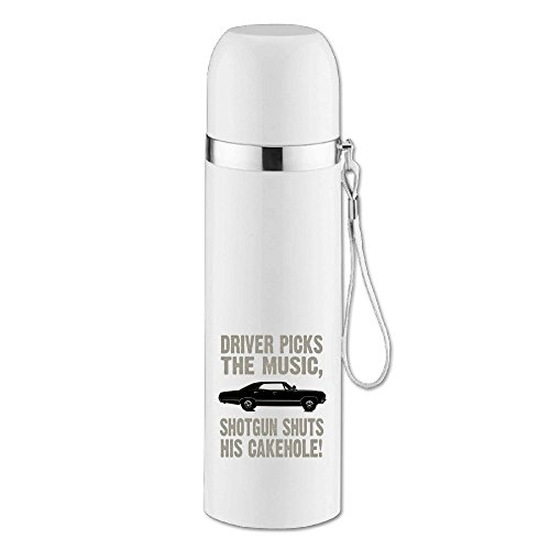 MZONE Stylish Stainless Steel Tumbler Supernatural Driver Picks The Music Traveling Tumbler For Fishing White 14OZ/350ml (Dean Winchester Blue Steel compare prices)