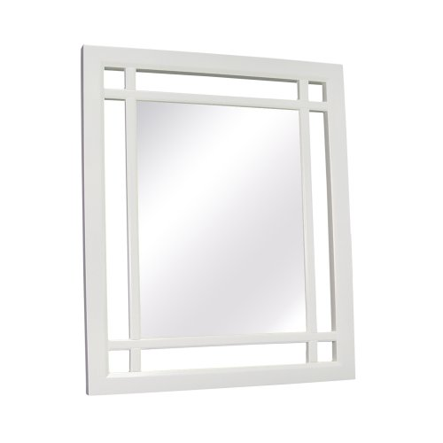 Elite Home Fashions Neal Collection Framed Mirror White