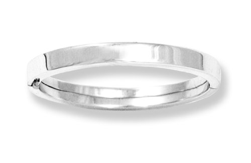 Sterling Silver Children's Polished Guard and Hinge Bangle Bracelet