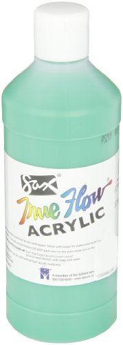 Sax True Flow Medium-Bodied Acrylic Paint - Pint - Emerald Green - 1