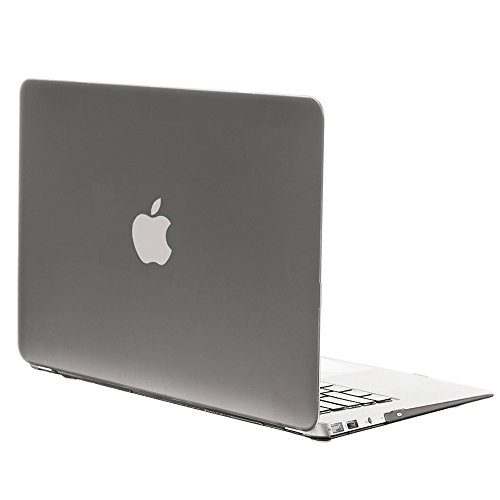 "Smart Tech ® Laptop Rubberized Hard Cover Case Keyboard Skin For Apple Macbook Air 11 Inch 11.6'' Frosted Matte Rubber Coated Rubberized See Thru Hard Snap On Case For Apple 11.6""(Model:A1370 And A1465) Inch Macbook Air (Gray)"