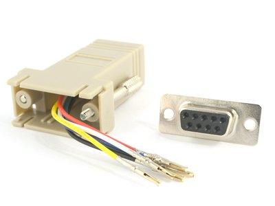 Modular Adapter Kit - Db9 Female To Rj11 / Rj12 - Beige