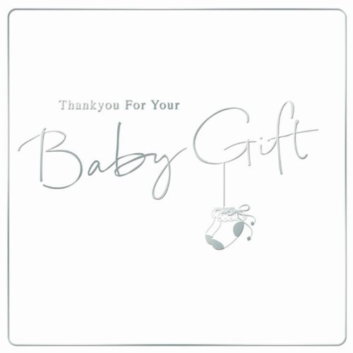 Thank You For Your Baby Gift Cards (Pack of 6 Quality Foil Finished Cards with Envelopes)