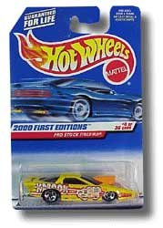 2000 - Mattel / Hot Wheels - Pro Stock Firebird (Yellow) - 2000 First Editions #4 of 36 Cars - 1:64 Scale Die Cast Metal - MOC - Limited Edition - Collectible